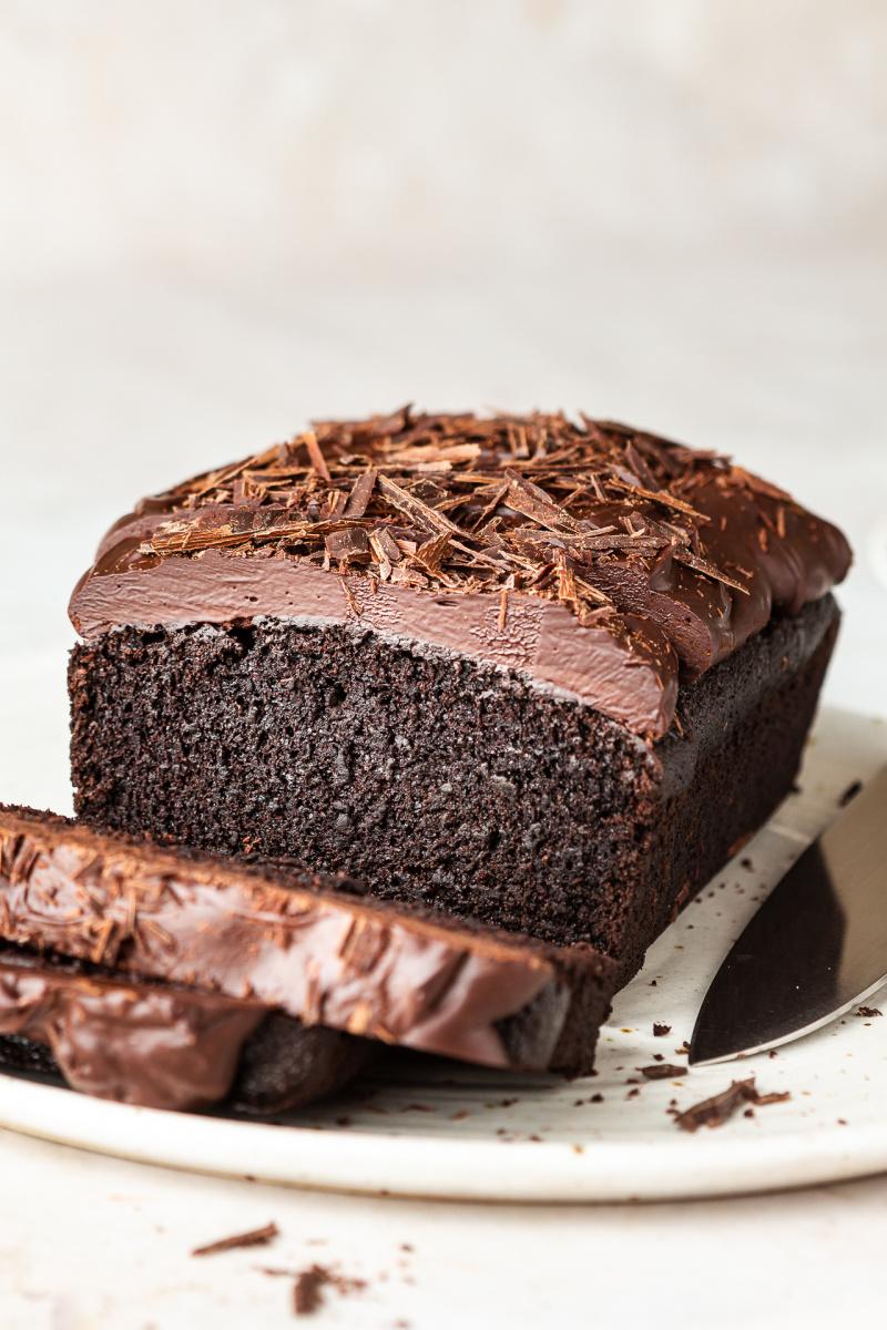 vegan beetroot chocolate cake baked