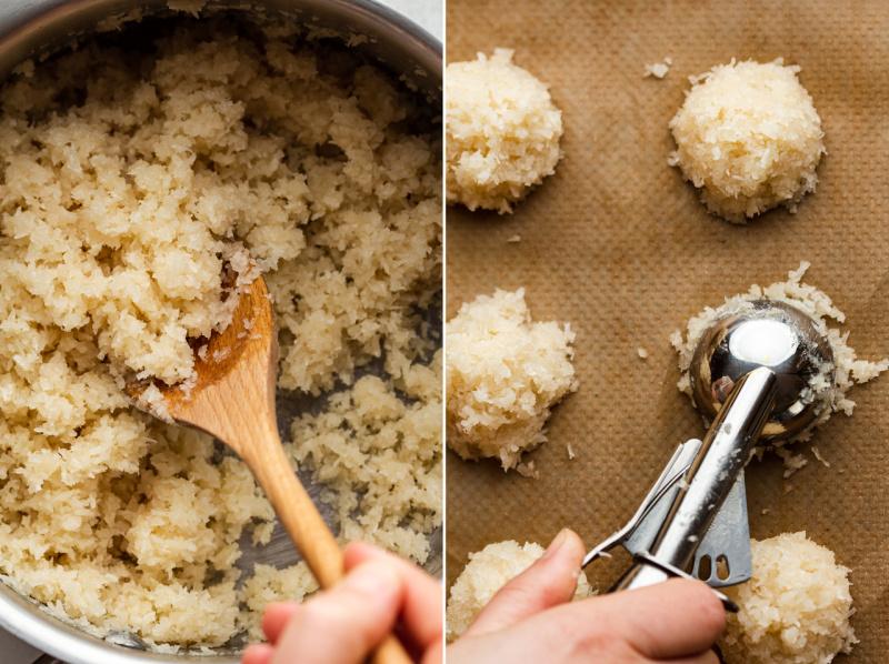 vegan coconut macaroons mixture