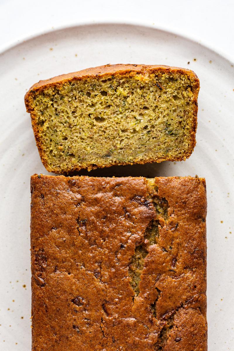 vegan courgette cake top down