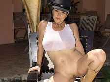 Natalie Fiore In Cowgirl Cosplay 002