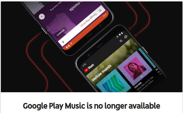 Google Play Music har upphört