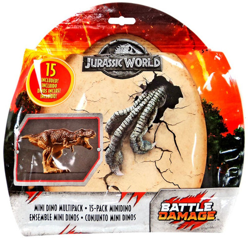 Jurassic World Matchbox Mini Dinosaur Figure Battle Damage