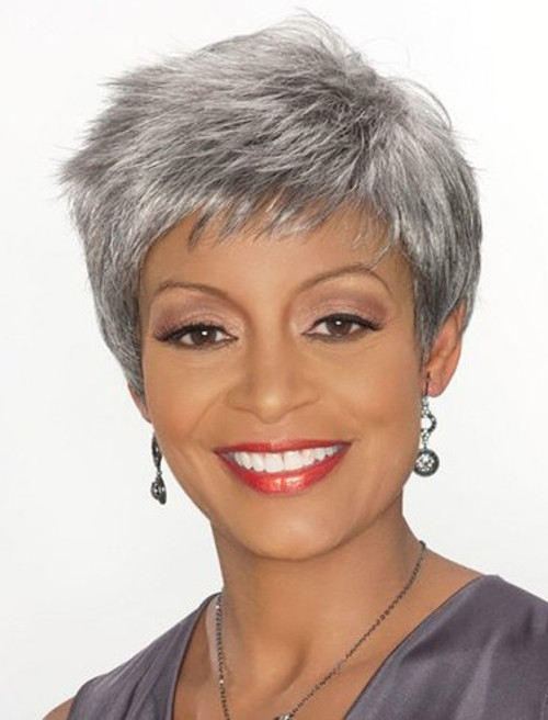 Alicia Foxy Silver Synthetic Wig Barbara Top Hair Wigs