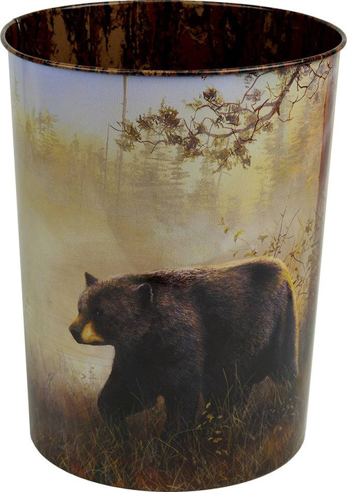 Black Bear Scene Waste Basket American Expedition