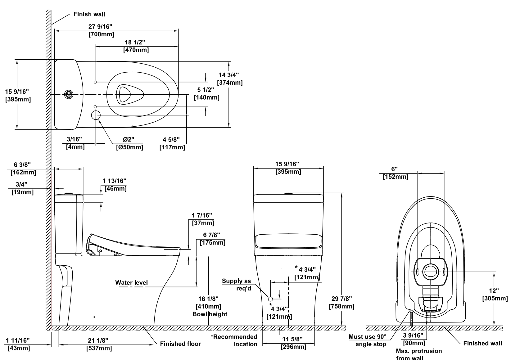 Toilet Bowl Diagram