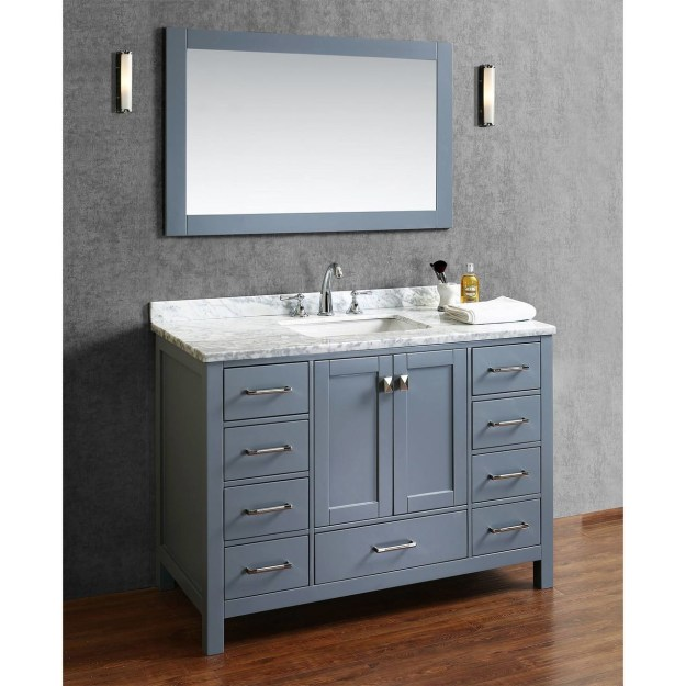 "armada 48"" bathroom vanity ice grey - york taps"