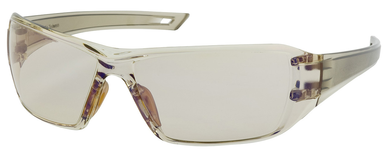 Bouton Captain Safety Glasses with Brown Temple and Indoor