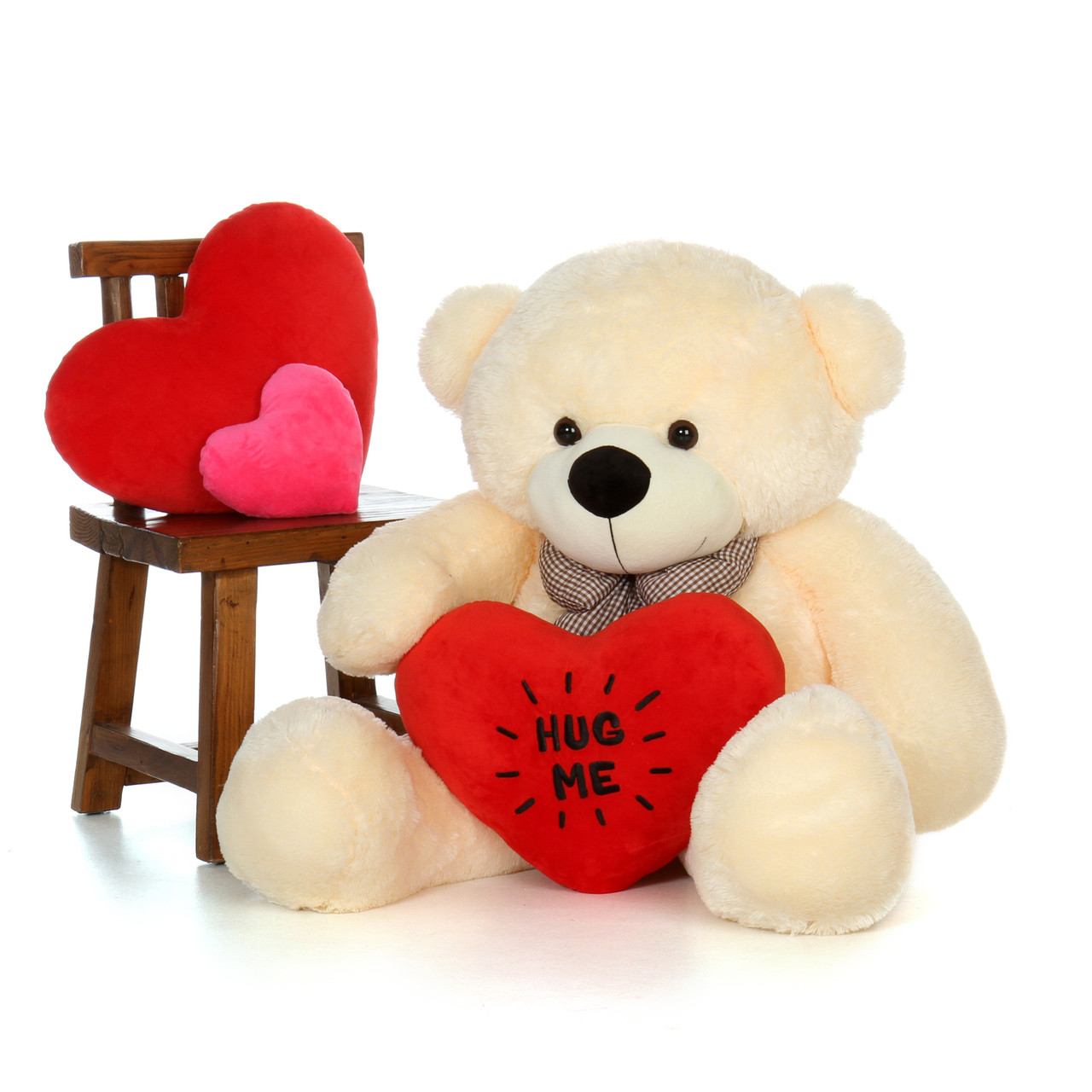 48in Big Life Size Valentines Day Teddy Bear With
