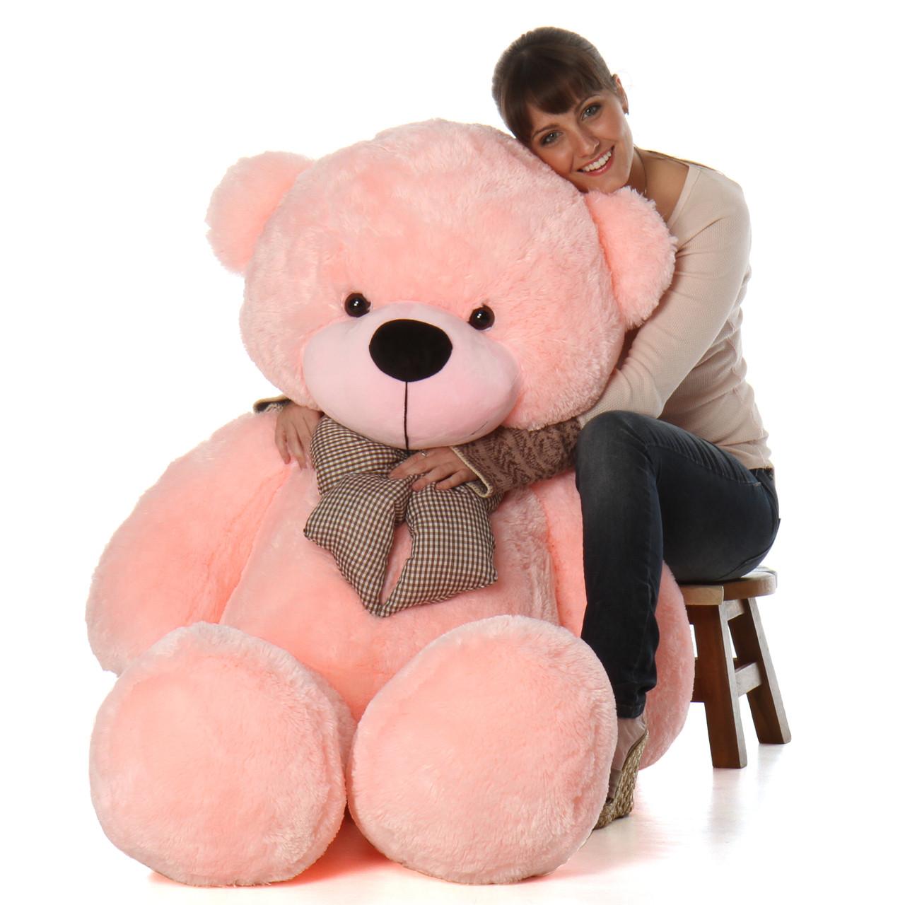 Lady Cuddles 60 Pink Huge Stuffed Teddy Bear Giant
