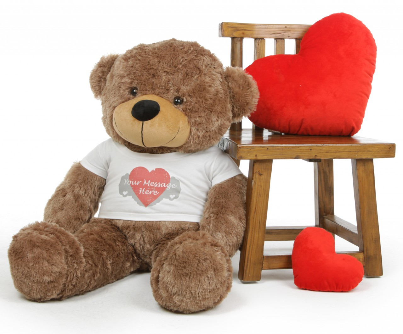 Mocha 38in Sunny Cuddles Personalized Teddy Bear With