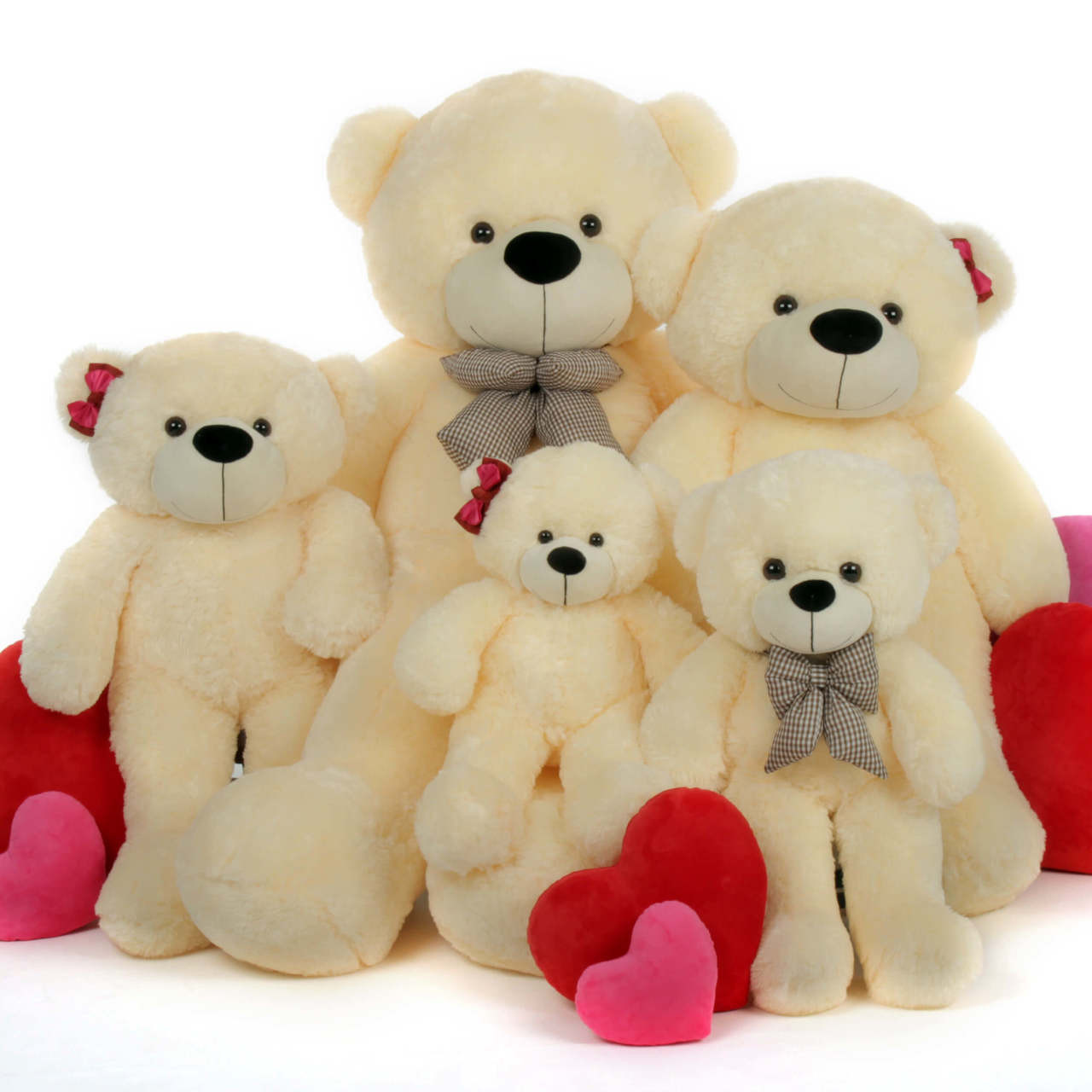 Cozy Cuddles 30 Big Plush Cream Teddy Bear Giant Teddy