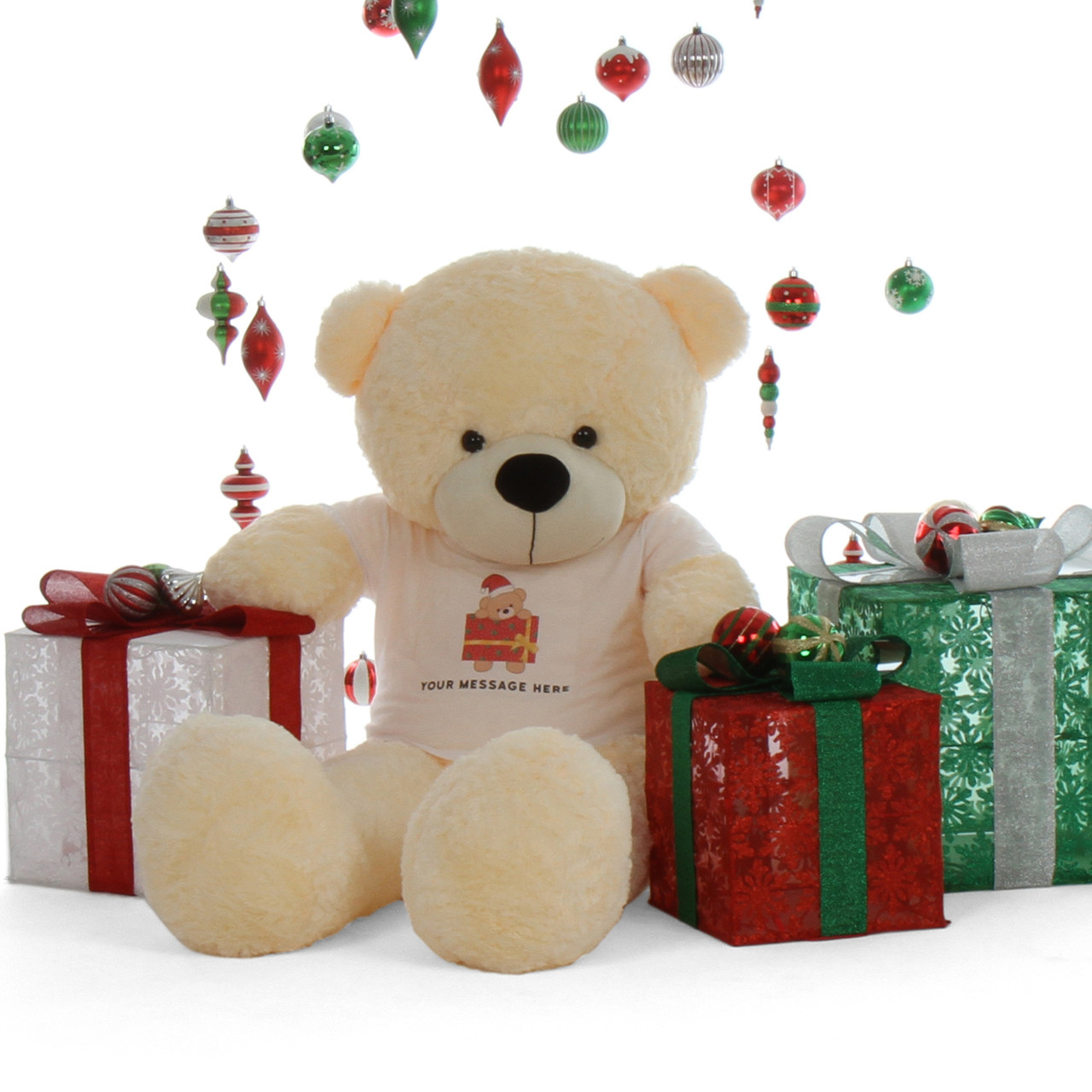 Life Size 5ft Personalized Christmas Teddy Bear Gift