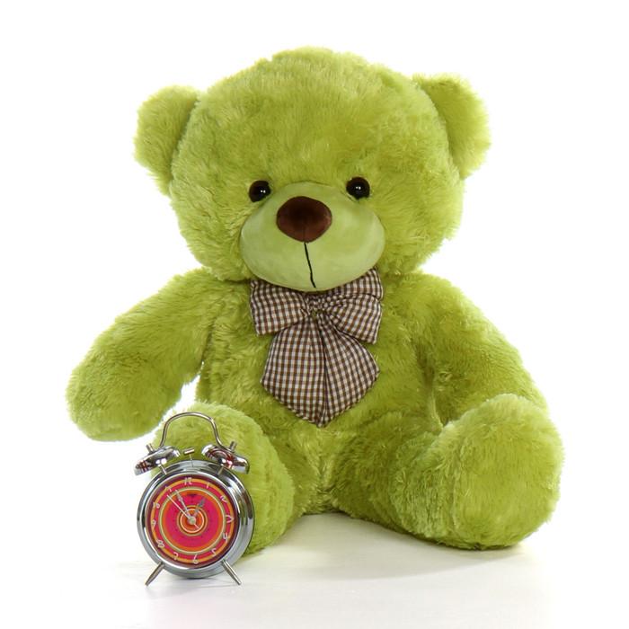 30in Ace Cuddles Lime Green Big Teddy Bear Giant Teddy