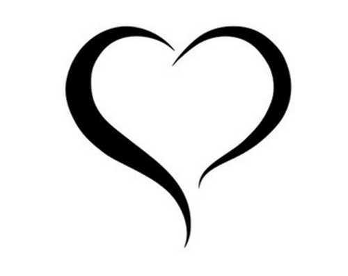 Vinyl Decals Hearts Black Pearl Custom Vinyls