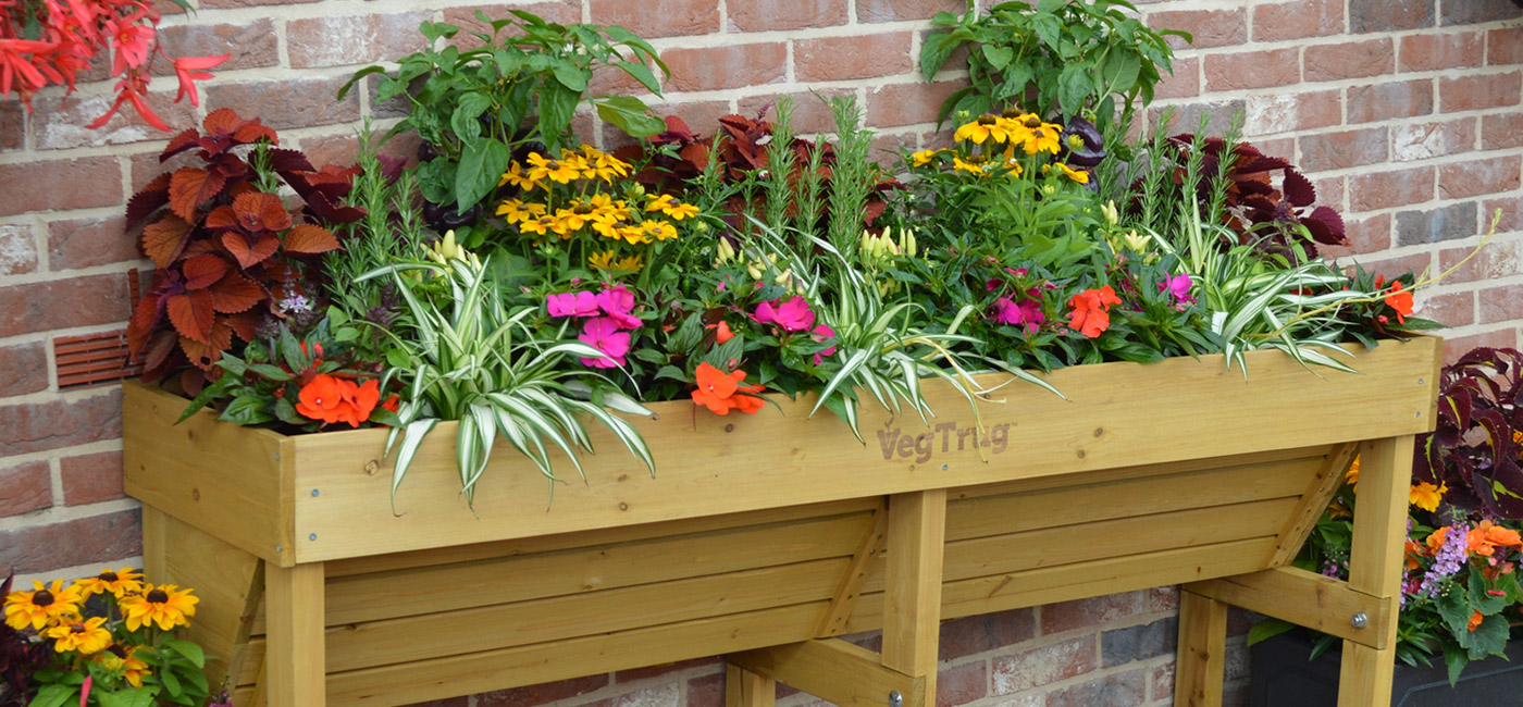 Vegtrug Wall Hugger Raised Garden Planter