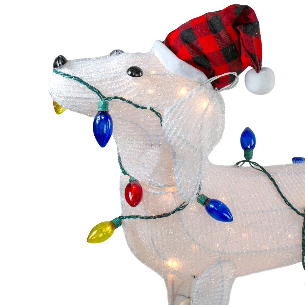 28 5 3 D Standing Decorative Dog Lighted Christmas Outdoor Decoration 32634990