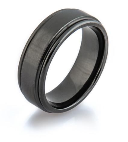 Simple Black Zirconium Ring Unique Titanium Rings Amp More