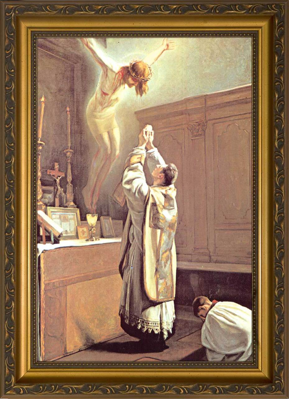 The Holy Sacrifice Of The Mass Framed Art Nelson Fine