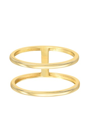 14k gold double band ring   Zoe lev Jewelry gold double band ring