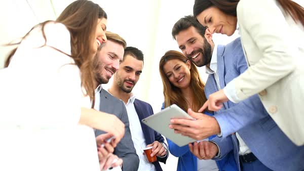 Image result for people talking in a group