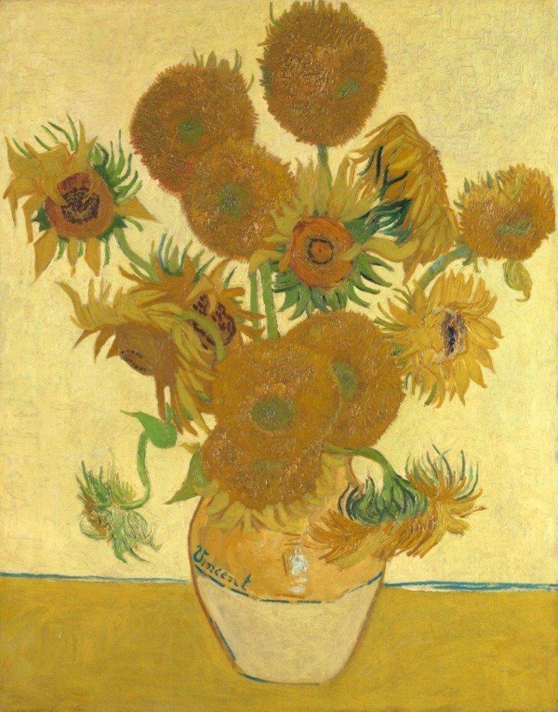 Girassois - Vincent Van Gogh 1888, óleo sobre tela de 92,1 x 73 cm
