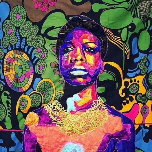 Bisa Butler's Beautiful Quilted Portraits of Frederick Douglass, Nina Simone, Jean-MichelBasquiat & More 3