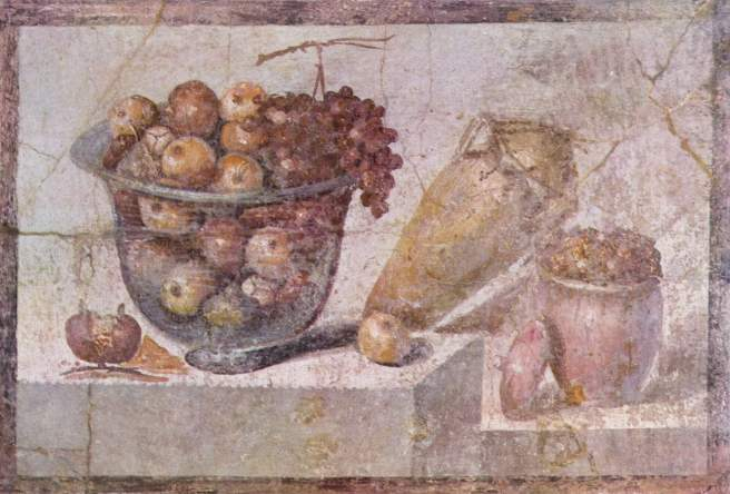 Image result for Ancient Roman library food