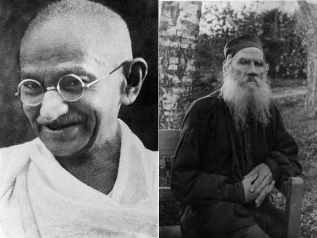 Gandhi.Tolstoy