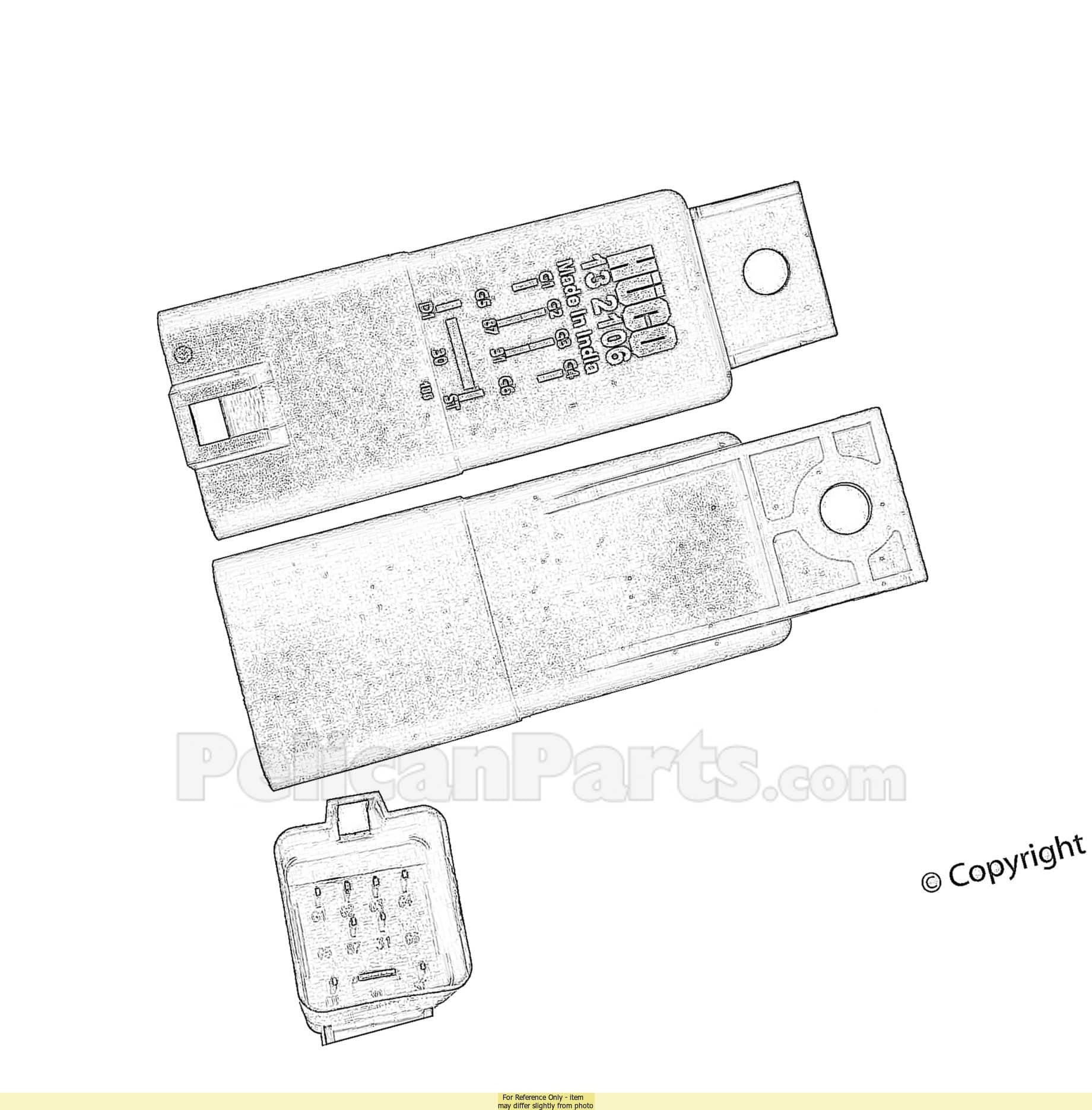Sel Glow Plug Control Relay Module D