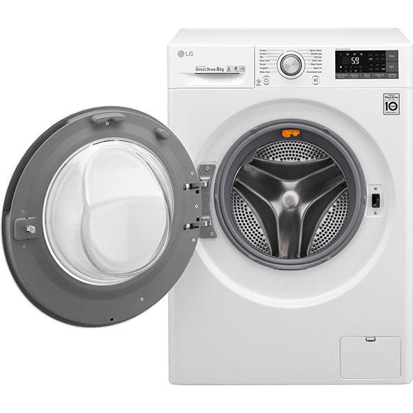 Masina de spalat rufe frontala LG F4TURBO8, 6 Motion DD, 8kg, 1400rpm, Clasa A+++, alb