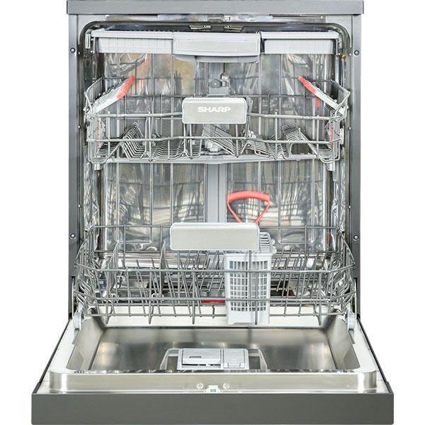 Masina de spalat vase independenta SHARP QW-HY24F472A-EU, 15 seturi, 9 programe, 60 cm, clasa A++, antracit