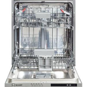 Masina de spalat vase incorporabila SHARP QW-D21I492X, 13 seturi, 5 programe, 60 cm, clasa A++