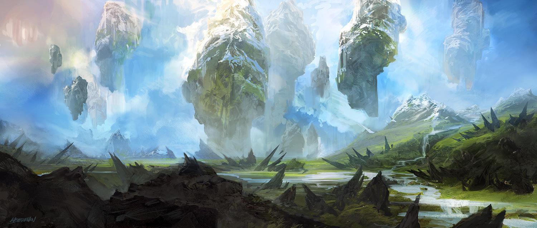 Artstation Flying Mountains Krzysztof Bielenin
