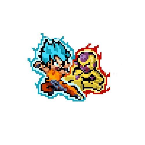 Artstation Pixel Art Goku Vs Freezer Daniel Pinta