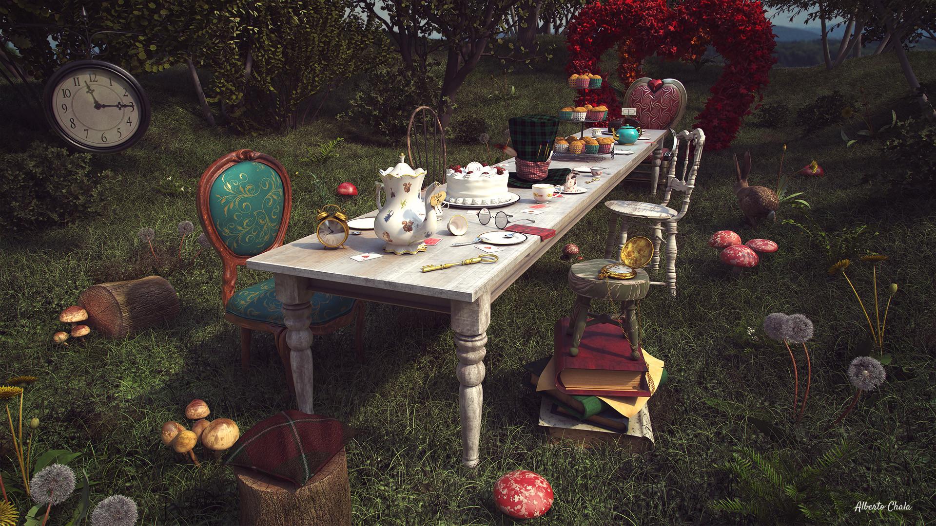 artstation tea table alice in