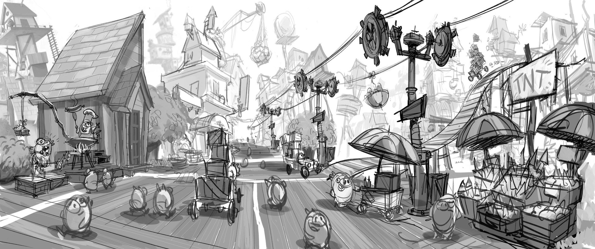 ArtStation Exploratory Study On Pig Island For The Angry