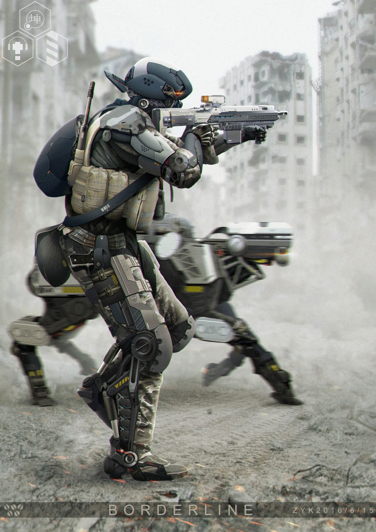 Futuristic Soldier Concept Art by Zhu Yukun on Artstation
