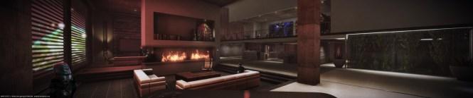 Don Arceta Widescreen Gaming Mass Effect 3 Femshep 08 Citadel Dlc Apartment Flycam Squadmates Dvdbash 54