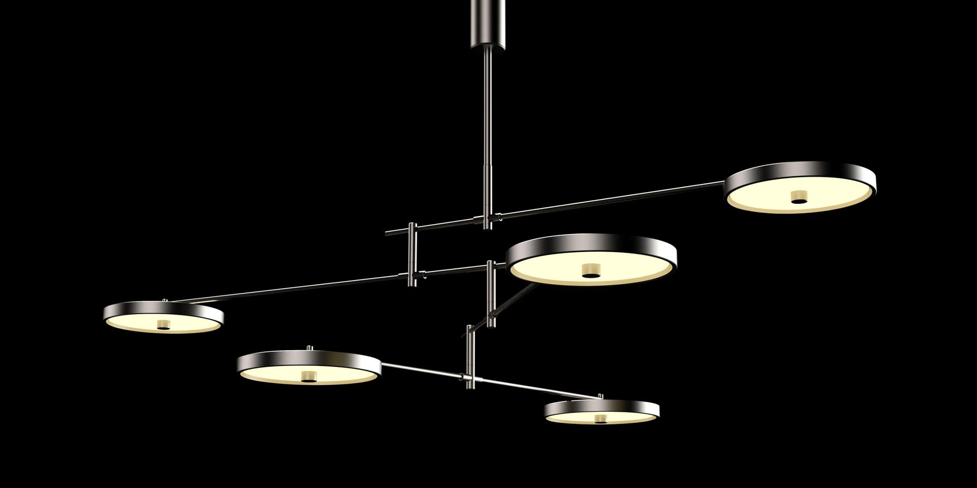 holly hunt helios chandelier lamp kemp