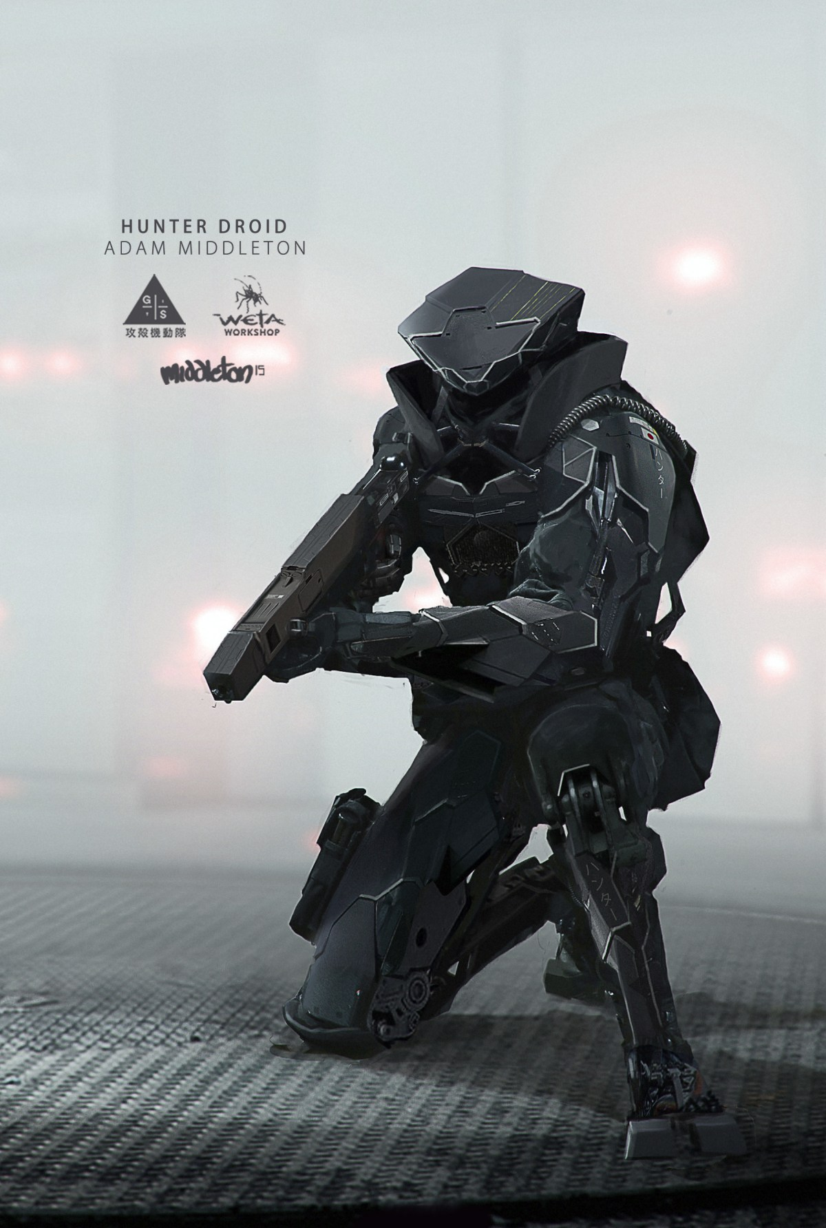 Hunter Droid - Futuristic Soldier Concept by Adam J Middleton