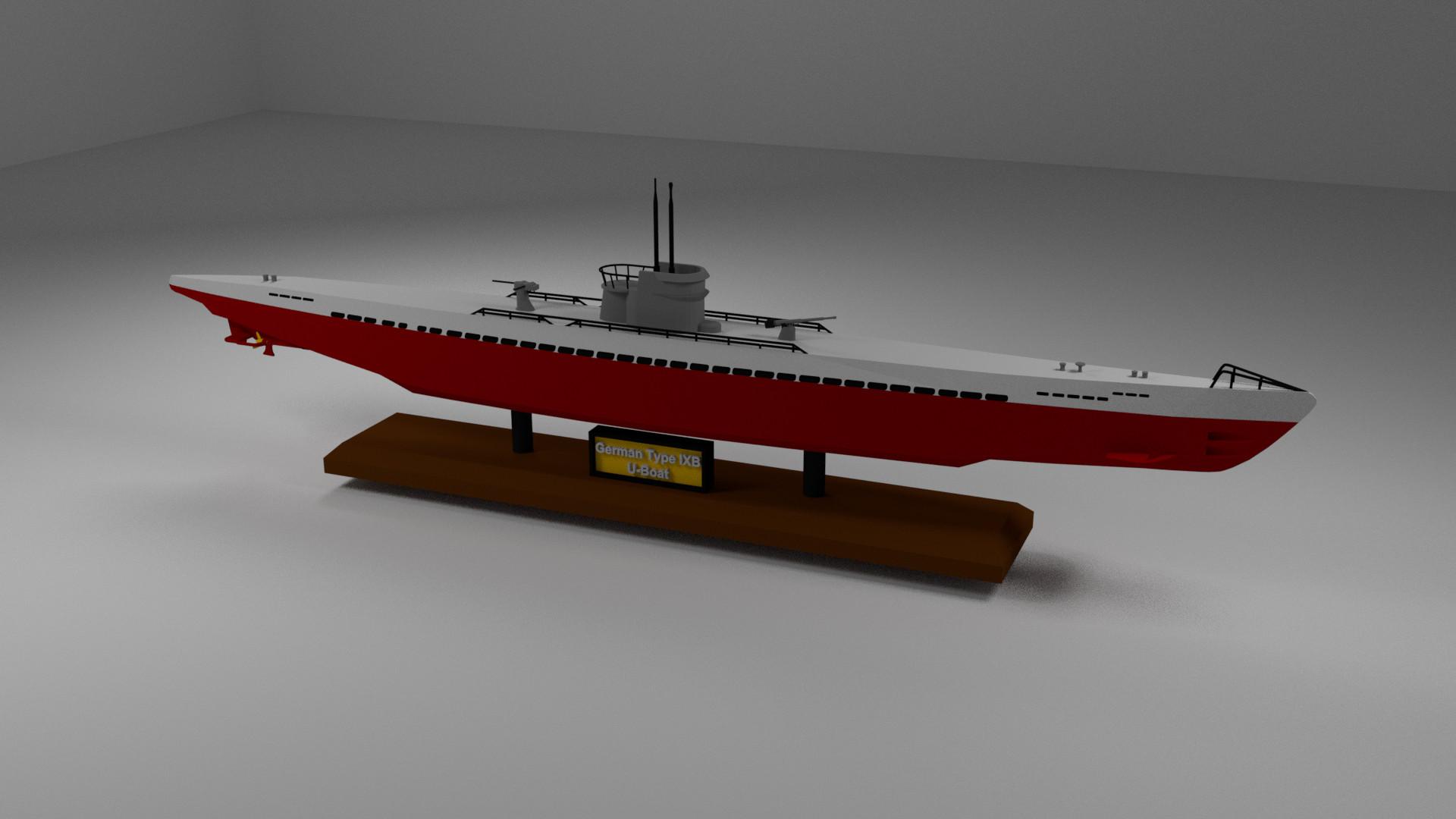 artstation - german type ixb wwii u-boat, austin bordal
