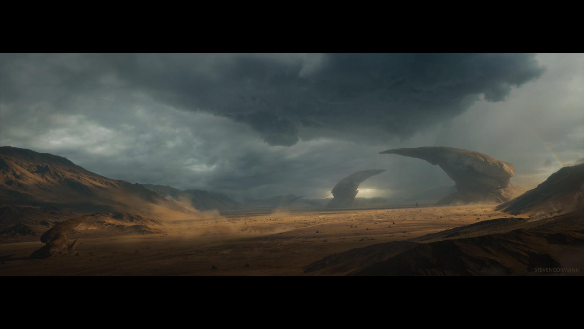 Artstation Stormy Desert Steven Cormann