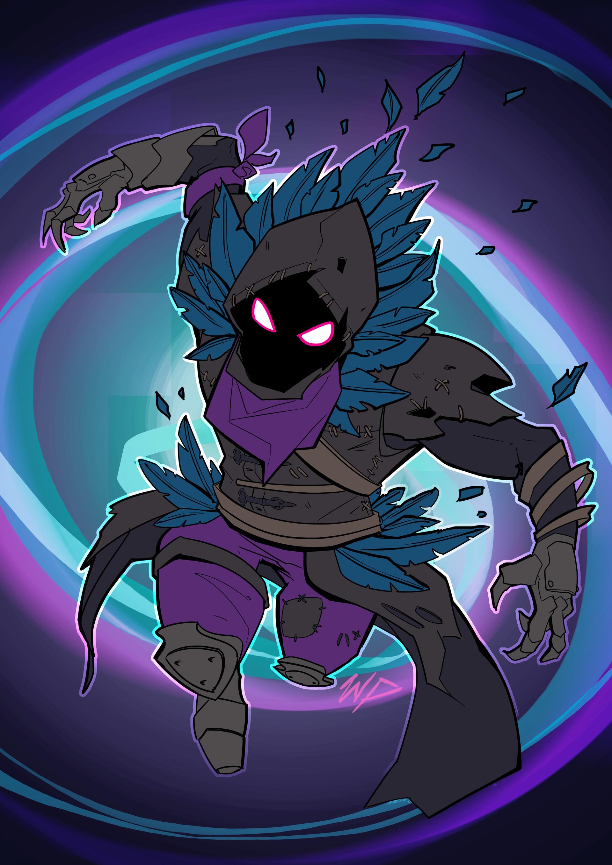 1080x1080 Gamerpic: 1080x1080 Fortnite Raven