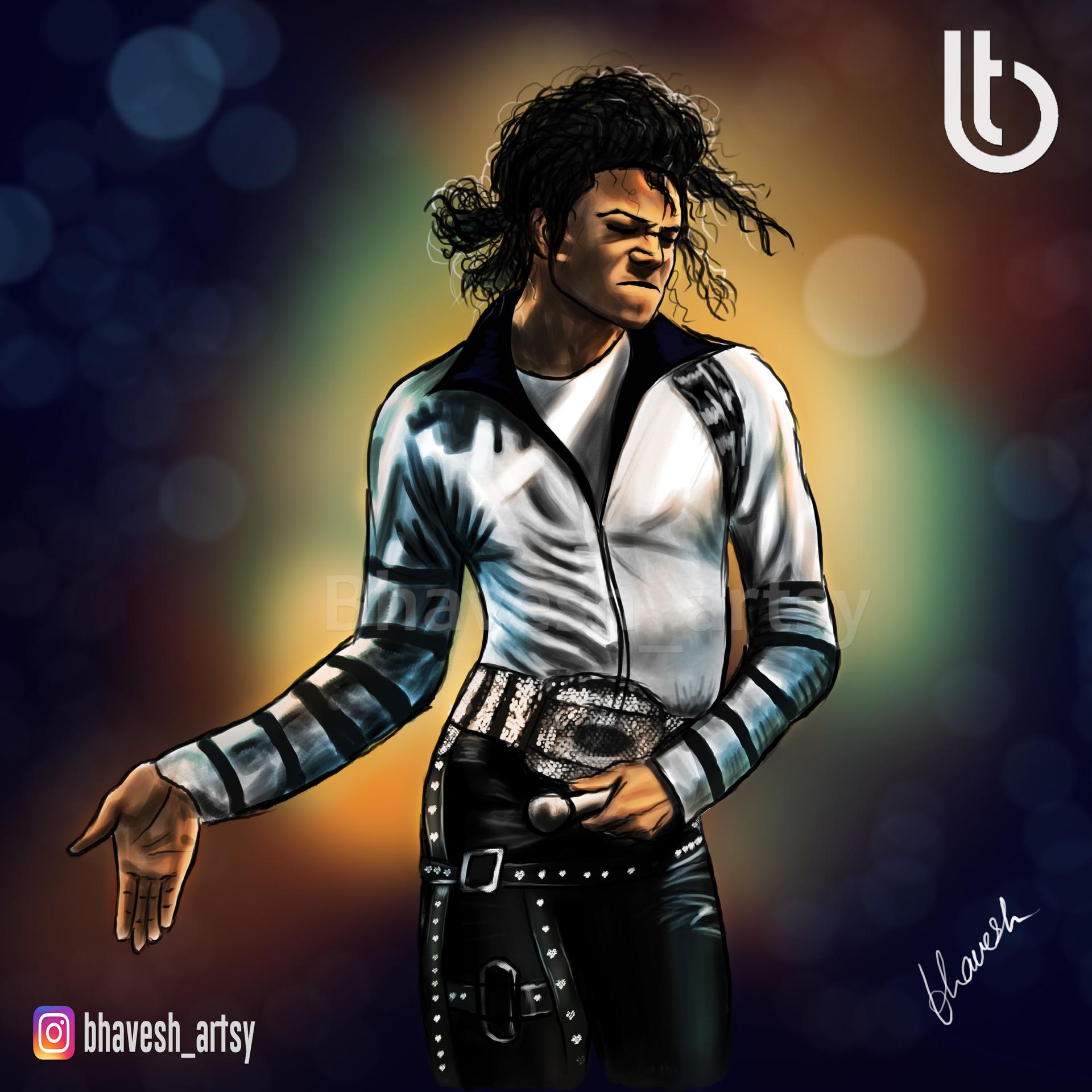 Artstation Michael Jackson The King Of Pop Bhavesh Tamrakar