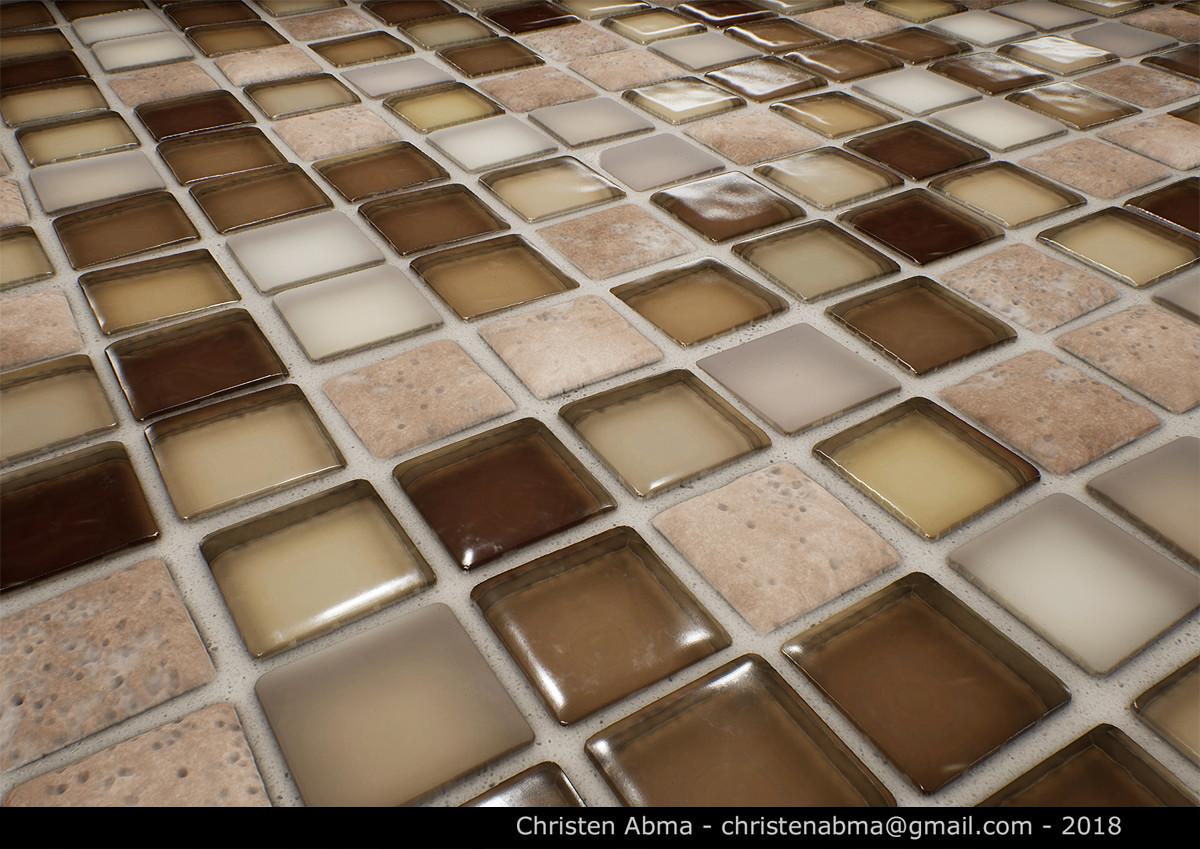 christen abma glass tile trim material