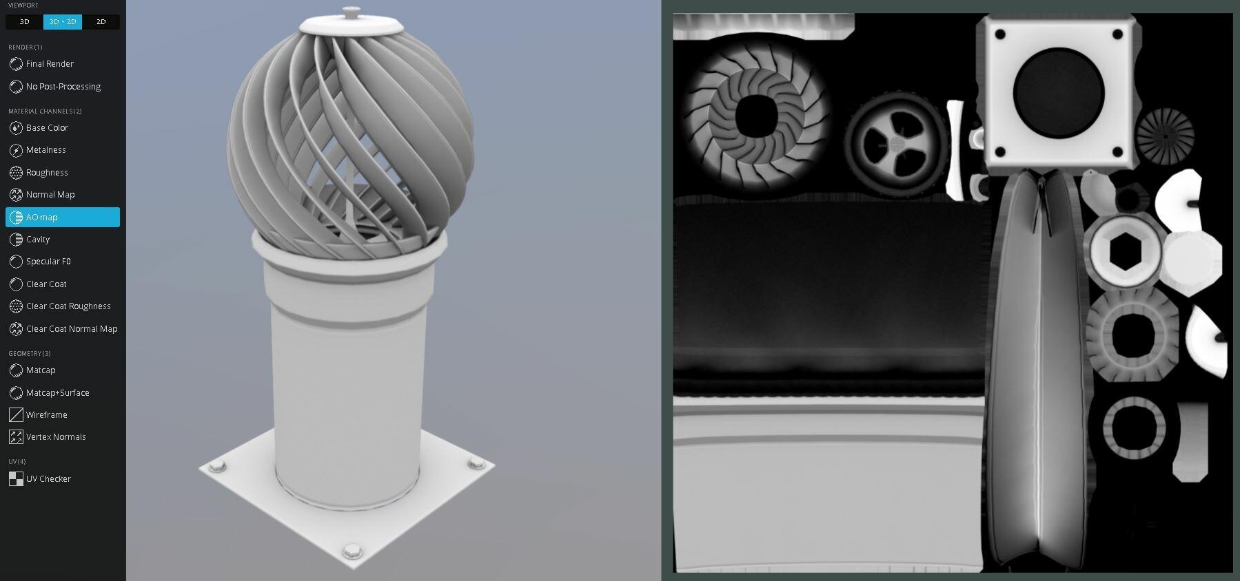 artstation chimney roof exhaust fan