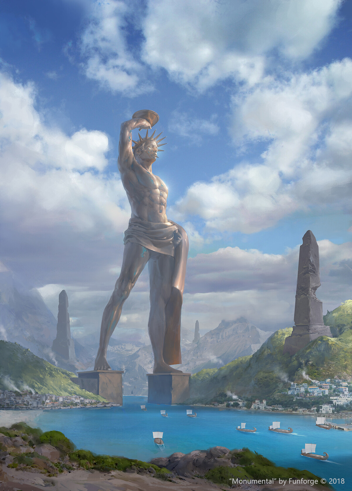 Artstation Colossus Of Rhodes Leo Av