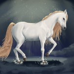 Artstation Magic White Horse Olga Anisimova