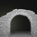 Artstation Stone Arch 3d Model Prasad Rathiwadekar