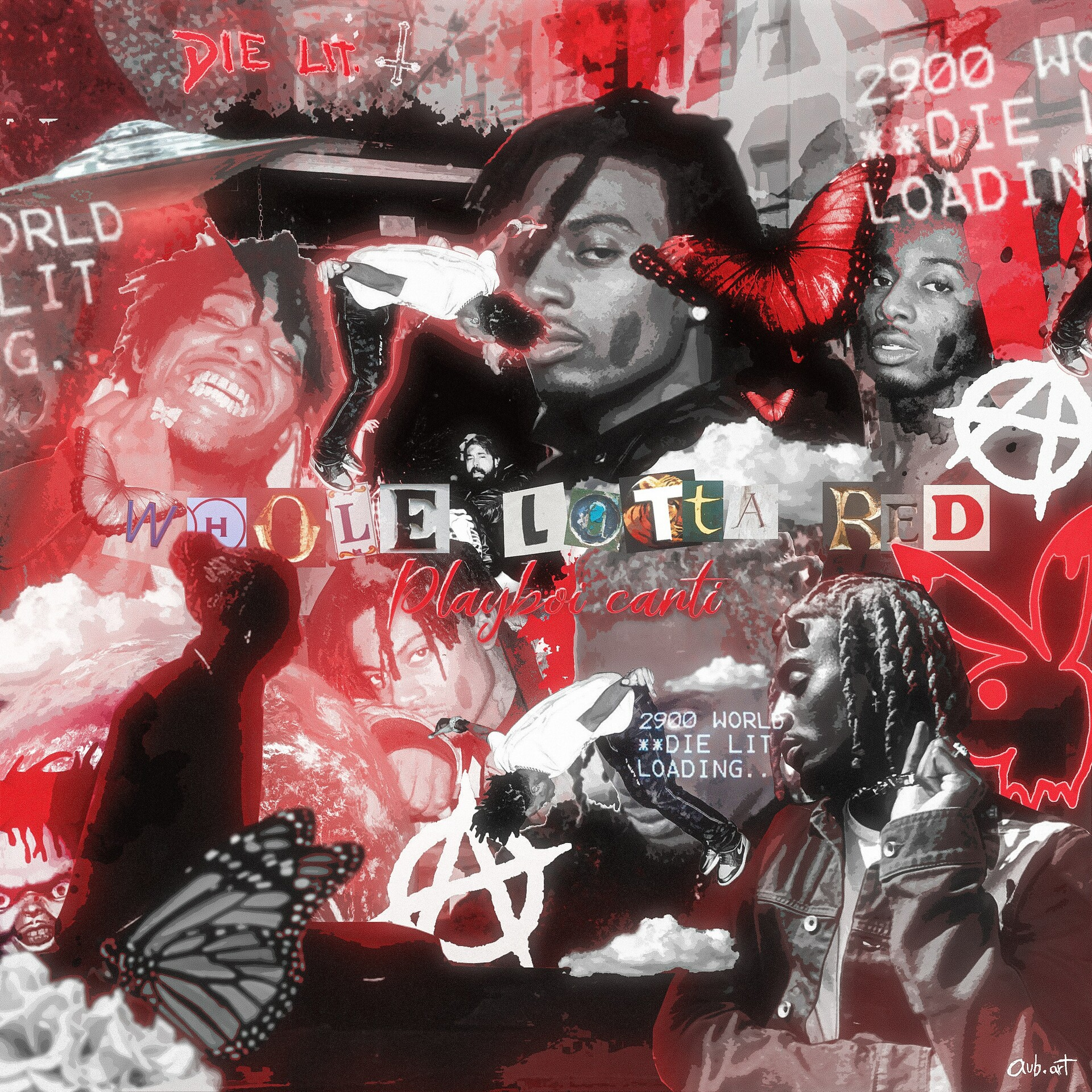whole lotta red fan made cover art